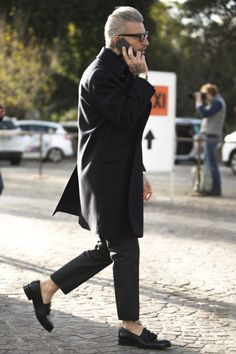 Men in black color inspiration Follow MenStyle1.comFacebook...