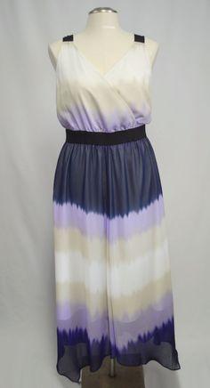 33974b9379bc7a Express Multicolor Sleeveless Maxi Dress Navy Tan White Lavender Flowy Sz  Large  Express  Maxi  Summer  MaxiDress  dress  watercolors  ForSale