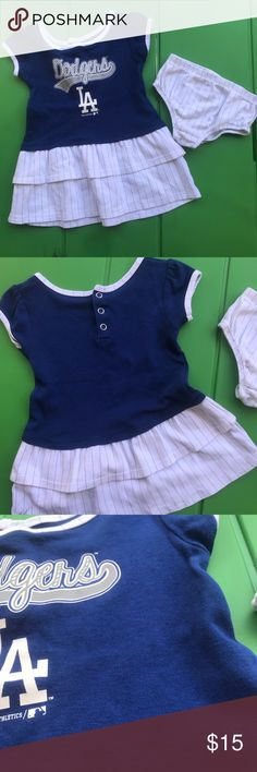 DODGER DRESS SET Worn once and was NOT dried. So it has no fabric piling in brand new condition ✨ pair with any other kids item in my closet Matching Sets