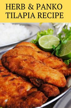 This is a delicious recipe for tilapia that is golden brown and crispy on the outside and tender on this inside. That makes me always happy is that the tilapia keeps the heat of the fire and remains delicious