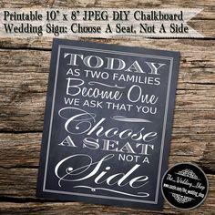 Instant Download Printable 8 x 10 DIY Chalkboard by WeddingShopTM, $7.50