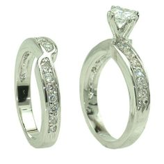 Wedding Set Clear CZ Rings SR8631 . $17.00