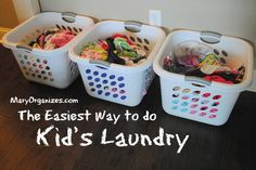 The easiest way to do kids laundry! Great tips