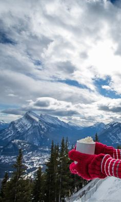 There is no better place to enjoy a cup of hot chocolate than in the midst of the Banff and Lake Louise area in the heart of Canadian Rockies.  Enter to win a 7-night dream vacation to this winter wonderland