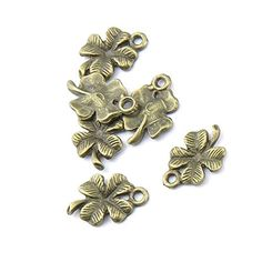 455 pieces Anti-Brass Fashion Jewelry Making Charms 1430 Clover Wholesale Supplies Pendant Craft DIY Vintage Alloys Necklace Bulk Supply Findings Loose *** You can find out more details at the link of the image.