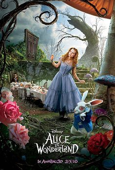 Alice in Wonderland (US. Dir: Tim Burton. Eclectic adaptation of the Carroll books, though extremely well done and very popular. Alice - Mia Wasikowska, 2010) thanks to Michael Organ who compiled all the versions from Alice in wonderland which I pinned before!