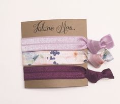 A personal favorite from my Etsy shop https://www.etsy.com/listing/295086169/bridesmaid-hair-tie-favorhair-tie-card