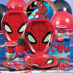 Spiderman Birthday Party Ideas--silly string