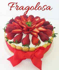 Chiarapassion: Pan di Spagna con crema alle fragole e Tutorial: Cake Topper