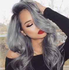 gorgeous silver hair