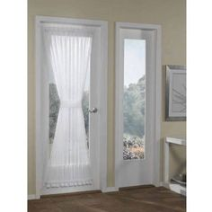 Better Homes and Gardens Crushed Voile Door Curtain Panel, 51x72, White