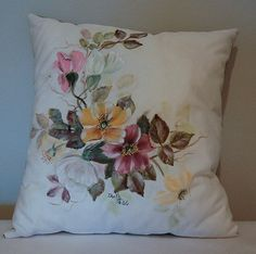 Hand Painted Pillow by Dolly by GrinningLikeAnIdiot