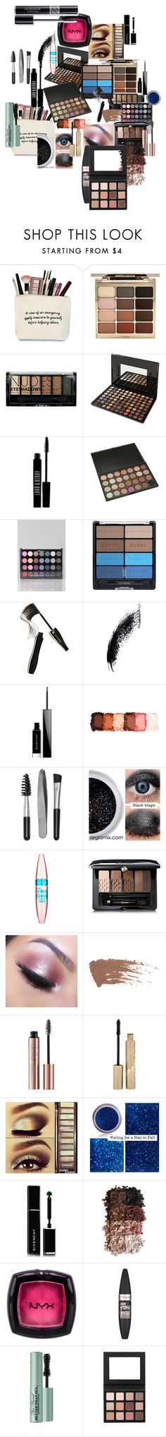 """Lots of Eyeshow and Mascara --Plus One eyeliner"" by faeryrain on Polyvore featuring beauty, Stila, Boohoo, BHCosmetics, Lord & Berry, Black Radiance, Lancôme, Givenchy, NYX and Sephora Collection"