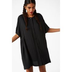 Dresses (€28) ❤ liked on Polyvore featuring dresses, flounce dress, flutter-sleeve dresses, frilly dresses, ruffle dress and monki