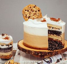 Cafe au Lait Father's Day Cake Loaded With Buttercream, Cookies, Doughnuts & Coffee Crisp Triple Chocolate Chip Cookies, Ultimate Chocolate Cake, Semi Sweet Chocolate Chips, Chocolate Desserts, Melting Chocolate, Cake Chocolate, Cupcakes, Cupcake Cakes, Food Cakes