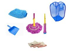 House Keeping Combo – Gloves + 4 Duster Laundry Bag Dust Pan & Twist Mop At Rs 449
