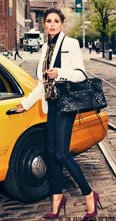 Olivia Palermo for Instyle Germany, September 2012 Love the whole outfit Passion For Fashion, Love Fashion, Womens Fashion, Fashion Tips, Fashion Trends, City Fashion, Editorial Fashion, Street Fashion, Jeans Fashion