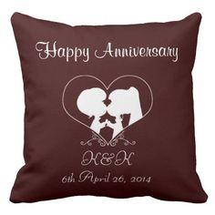 Happy Wedding Grade A Cotton Throw Pillow 20x20
