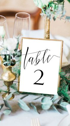 Elegant Modern Simple Wedding Table Decor Printable Table Number card for Wedding Perfect wedding Table Card template instant access with our online design tool Truly custom change your color your background your fonts your style Free demo Click Try it Card Table Wedding, Wedding Table Centerpieces, Wedding Cards, Wedding Decorations, Wedding Invitations, White Centerpiece, Wedding Favors, Table Numbers For Wedding, Wedding Souvenir