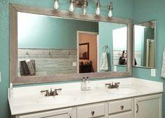 Beautiful bathroom mirror ideas to reflect your style. Tag: search: bathroom mirror ideas diy, bathroom mirror ideas for small bathroom, bathroom mirror ideas on wall, bathroom mirror double vanity. Large Bathroom Mirrors, Bathroom Mirror Design, Bathroom Mirror Makeover, Diy Bathroom Decor, Bathroom Ideas, Master Bathroom, Bathroom Bin, Mosaic Bathroom, Bathroom Makeovers