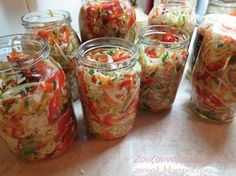 Pursuing Heart: Layered Salad-in-a-Jar The Kitchen Food Network, Good Food, Yummy Food, Fun Food, Homemade Spices, Special Recipes, Canning Recipes, Greek Recipes, Different Recipes