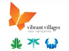 Vibrant Villages NH Logo by 36creative