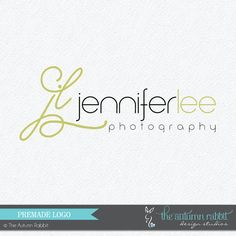 Pre-made customizable Logo Design. Perfect for photographers or small business boutique owners who want a quick no hassle logo. Up to 2 changes