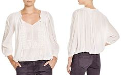 Joie Callaway Embroidered Peasant Blouse