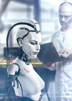 Cyborg by on DeviantArt Cyberpunk Girl, Arte Cyberpunk, Blade Runner, Science Fiction, Female Cyborg, Steampunk, Humanoid Robot, Robot Girl, Image 3d