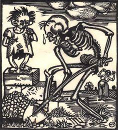 The Death-Dance Anno (Vom Totentanz Anno) by Otto Wirsching (Germany, 1915) by 50 Watts, via Flickr