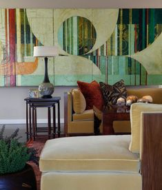 funky colours retro shapes large wall art ideas for exquisite interiors