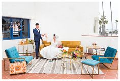 Mid-Century Modern Wedding Inspiration With Tropical Retro Vibes - Love Inc. MagLove Inc. Mag