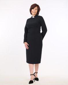 7ca1504a7ca Three Quarter Length Clergy Dress from House of ilona Women s Clergy Attire