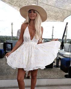 GypsyLovinLight wearing Love Shack Fancy Dress