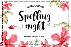 FREE Font for the week! Such a pretty brush script!! Spelling Night by Mellow Design Lab on @creativemarket