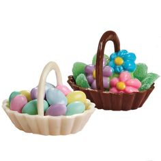 Spring in a Basket Candy - A tisket, a tasket … everyone will delight in these candy baskets for Easter, especially when they're filled with candy flowers or other treats. The baskets also make great favors for weddings, showers, birthdays and any celebration.