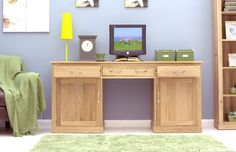 This Mobel Oak Large Hidden Office Twin Pedestal Desk is a part of Mobel and a great Desk.  The dimension of this Mobel Oak Large Hidden Office Twin Pedestal Desk are as follows - the height is 80CM, the width is 170.6CM the depth is 55CM and the volume of this Mobel Oak Large Hidden Office Twin Pedestal Desk is 0.75CBM.  The International Article Number or EAN number is 5060164711452 and the weight is 75.00kg.  This Mobel Oak Large Hidden Office Twin Pedestal Desk is an authentic Baumhaus…