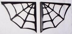 Spider Web Metal Art Wall Shelf Brackets Iron by ModernIronworks