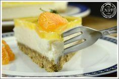 Cheesecake alla ricotta con gelatina all'arancia