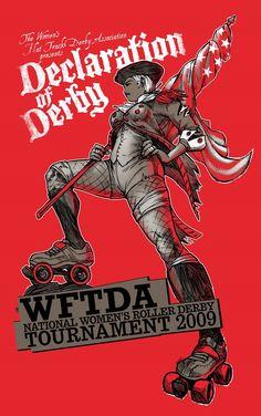 roller derby shirt by akada88.deviantart.com on @deviantART