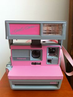 "Vintage pink Polaroid Cool Cam 600.. Who wants one?? "" i do, i do""!"