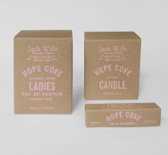 Sarah Thorne - Jack Wills Packaging Candle Branding, Candle Packaging, Soap Packaging, Beauty Packaging, Custom Packaging, Brand Packaging, Label Design, Box Design, Branding Design