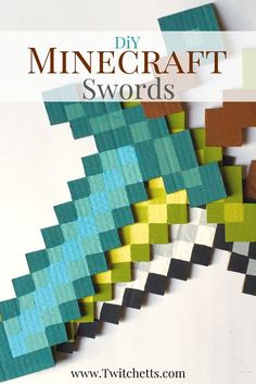 How to make DIY Minecraft Swords from cardboard – Twitchetts Make these DiY Minecraft Sword for your Minecraft fan. Make them for a room decoration, for a Minecraft birthday party, or just a fun craft! Lego Minecraft, Espada Minecraft, Minecraft Party Games, Minecraft Party Decorations, Minecraft Sword, Minecraft Birthday Party, Minecraft Crafts, Minecraft Skins, Minecraft Buildings