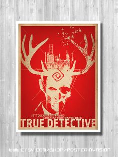 8.5x11 inches CLEARANCE SALE - True Detective poster SIZE 50%, Matthew Mc Conaughey tv series poster by PosterInvasion on Etsy