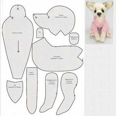 Ideas Sewing For Beginners Dog Fabrics For 2019 My short-sleeved blouse m… - Stofftiere Plushie Patterns, Animal Sewing Patterns, Bear Patterns, Sewing Stuffed Animals, Stuffed Animal Patterns, Fabric Animals, Sewing Projects For Kids, Sewing Ideas, Dog Pattern