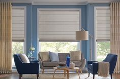 Simple and Stylish Roman Shades and Drapery