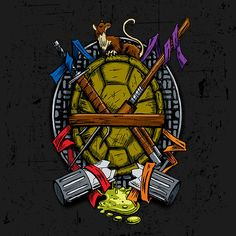 Turtle Family Crest by djkopet Teenage Mutant Ninja Turtles shirt Ninja Turtles Art, Teenage Mutant Ninja Turtles, Ninja Turtle Tattoos, Pawer Rangers, Neue Tattoos, Tmnt 2012, Family Crest, Illustrations, Caricatures
