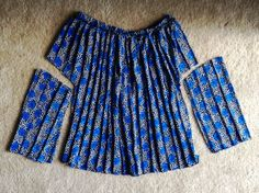 First step to converting thrift store skirt to top