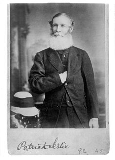 Leslie, Patrick (1815-1881), pioneer and grazier. Represented Moreton, Wide Bay, Burnett and Maranoa in the first New South Wales Legislative Assembly in 1857. Qld State Archives