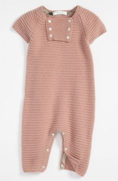 ShopStyle: Burberry Cashmere Coveralls (Infant)
